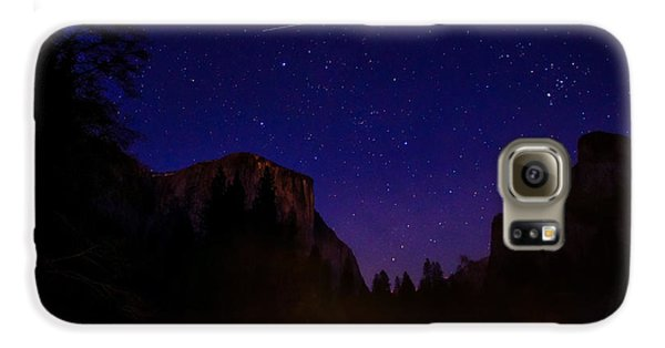 International Space Station Over Yosemite National Park Galaxy S6 Case by Scott McGuire
