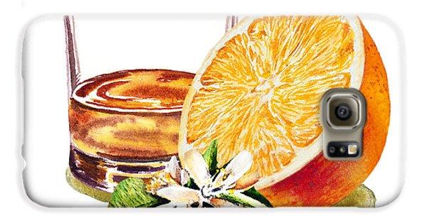 Irish Whiskey And Orange Galaxy S6 Case by Irina Sztukowski