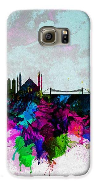 Turkey Galaxy S6 Case - Istanbul Watercolor Skyline by Naxart Studio