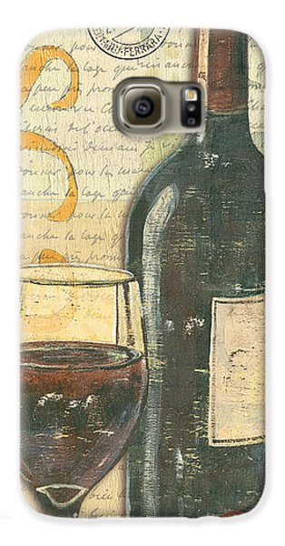 Food And Beverage Galaxy S6 Case - Italian Wine And Grapes by Debbie DeWitt