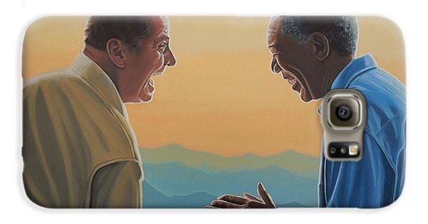 Jack Nicholson And Morgan Freeman Galaxy S6 Case by Paul Meijering