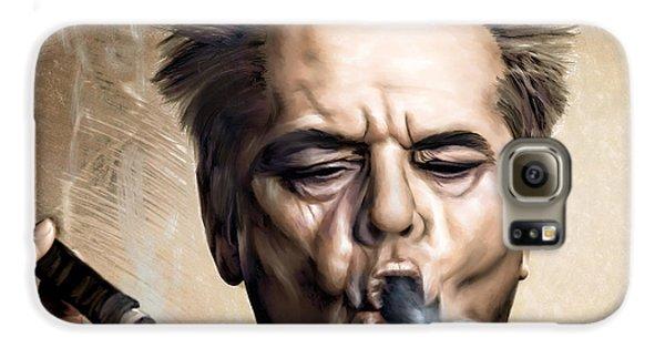 Jack Nicholson Galaxy S6 Case by Andrzej Szczerski
