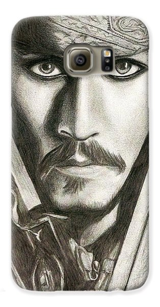 Jack Sparrow Galaxy S6 Case by Michael Mestas