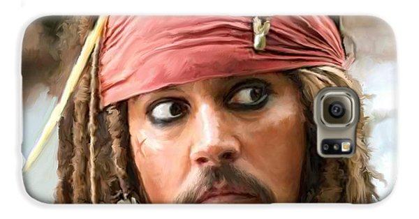 Jack Sparrow Galaxy S6 Case by Paul Tagliamonte