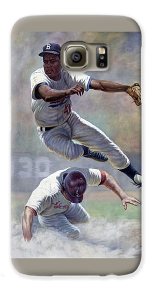 Baseball Players Galaxy S6 Case - Jackie Robinson by Gregory Perillo