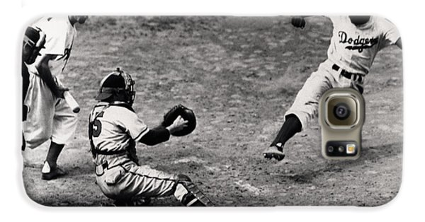 Jackie Robinson In Action Galaxy S6 Case by Gianfranco Weiss