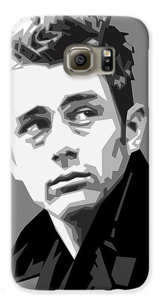 James Dean In Black And White Galaxy S6 Case by Douglas Simonson