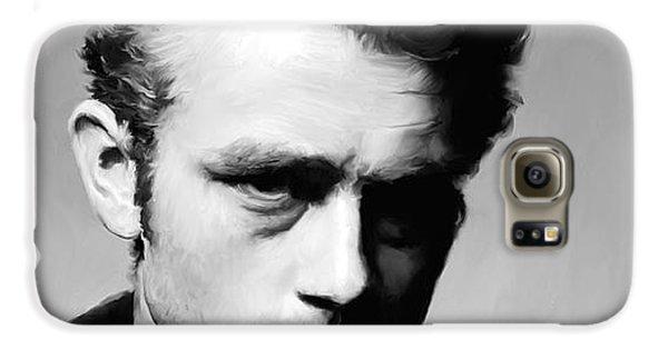 James Dean Galaxy S6 Case - James Dean - Portrait by Paul Tagliamonte