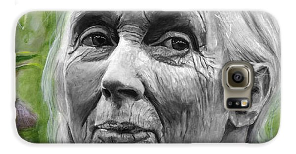 Jane Goodall Galaxy S6 Case by Simon Kregar