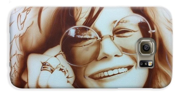 Rock And Roll Galaxy S6 Case - Janis by Christian Chapman Art