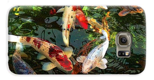 Japanese Koi Fish Pond Galaxy S6 Case by Jennie Marie Schell
