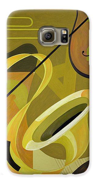 Trombone Galaxy S6 Case - Jazz by Carolyn Hubbard-Ford