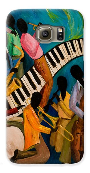 Trombone Galaxy S6 Case - Jazz On Fire by Larry Martin