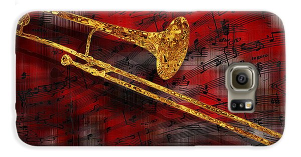 Trombone Galaxy S6 Case - Jazz Trombone by Jack Zulli