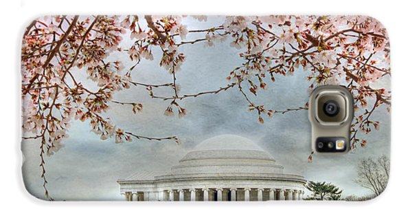 Jefferson Memorial Galaxy S6 Case - Jefferson Blossoms by Lori Deiter