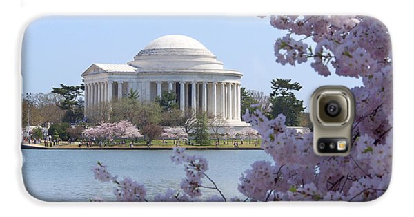 Jefferson Memorial - Cherry Blossoms Galaxy S6 Case by Mike McGlothlen