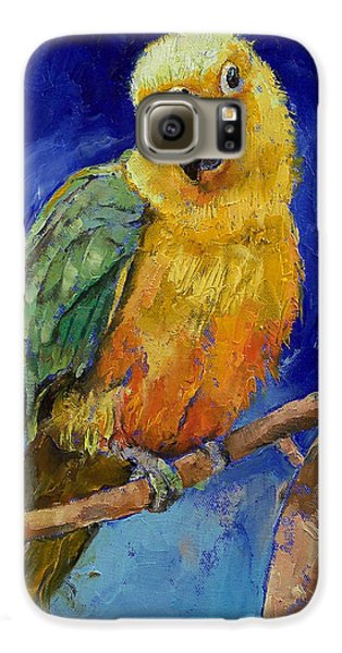 Macaw Galaxy S6 Case - Jenday Conure by Michael Creese
