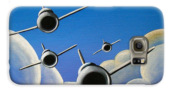Airplane Galaxy S6 Case - Jet Quartet by Cindy Thornton