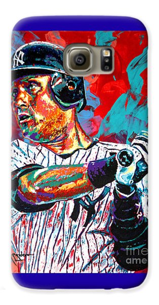 Jeter At Bat Galaxy S6 Case