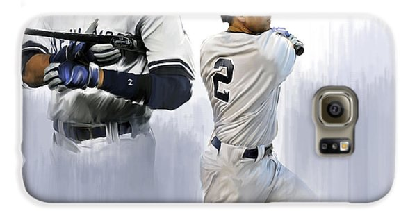 Jeter V Derek Jeter Galaxy S6 Case by Iconic Images Art Gallery David Pucciarelli