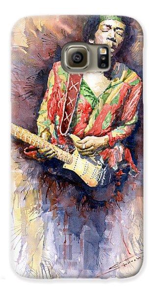 Jazz Galaxy S6 Case - Jimi Hendrix 09 by Yuriy Shevchuk