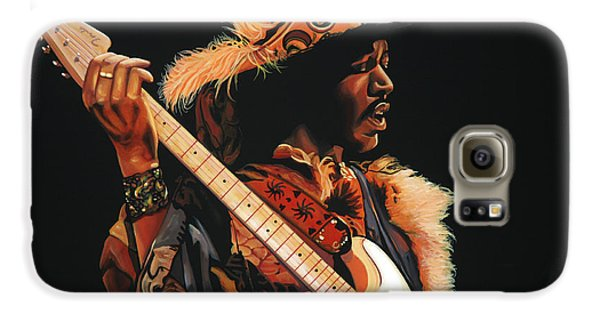 Knight Galaxy S6 Case - Jimi Hendrix 3 by Paul Meijering