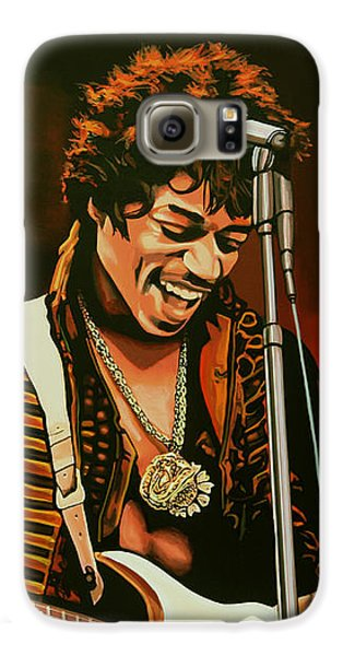 Knight Galaxy S6 Case - Jimi Hendrix Painting by Paul Meijering