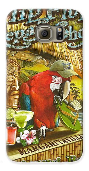 Jimmy Buffett's Flip Flop Repair Shop Galaxy S6 Case by Desiderata Gallery