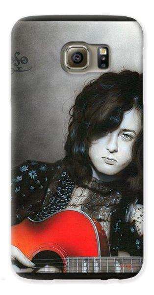 Jimmy Page Galaxy S6 Case - Jimmy Page by Christian Chapman Art