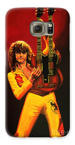 Led Zeppelin Galaxy S6 Case - Jimmy Page Painting by Paul Meijering