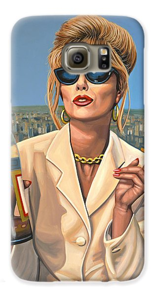 Panther Galaxy S6 Case - Joanna Lumley As Patsy Stone by Paul Meijering