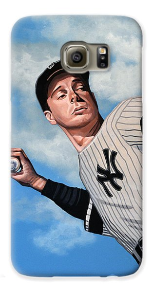 Baseball Players Galaxy S6 Case - Joe Dimaggio by Paul Meijering