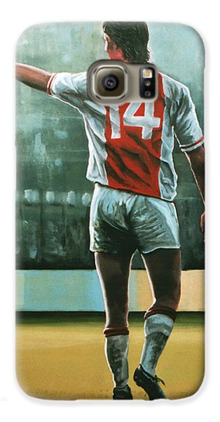 Johan Cruijff Nr 14 Painting Galaxy S6 Case