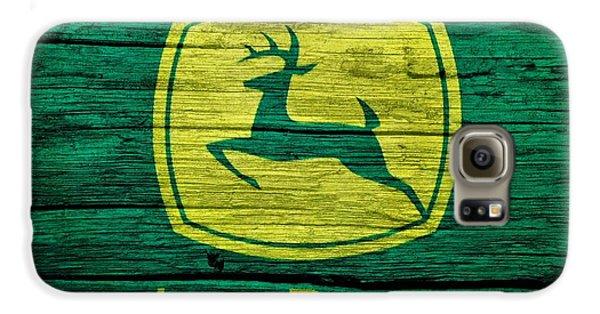 John Deere Barn Door Galaxy S6 Case by Dan Sproul