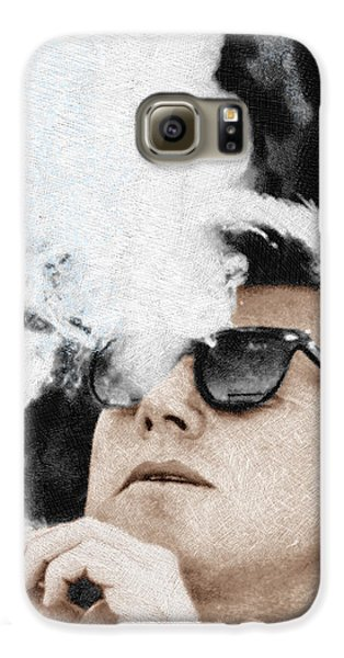 John F Kennedy Cigar And Sunglasses Galaxy S6 Case