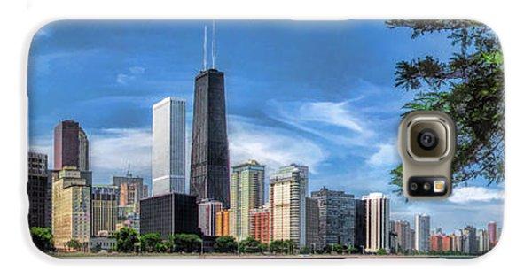 John Hancock Chicago Skyline Panorama Galaxy S6 Case by Christopher Arndt