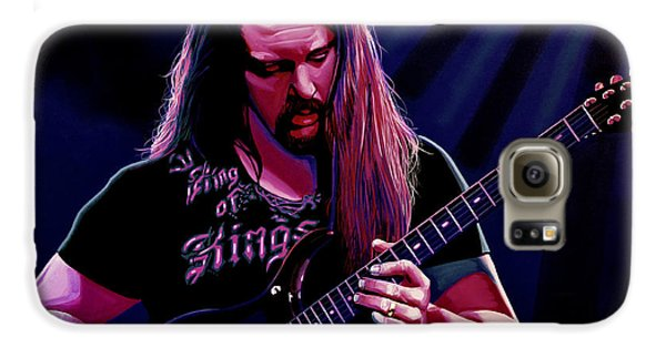 Led Zeppelin Galaxy S6 Case - John Petrucci Painting by Paul Meijering