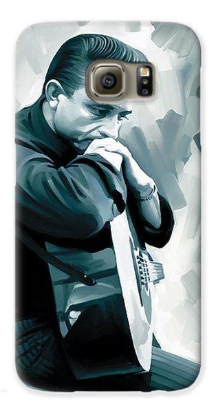 Johnny Cash Artwork 3 Galaxy S6 Case
