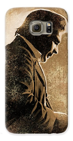 Johnny Cash Artwork Galaxy S6 Case