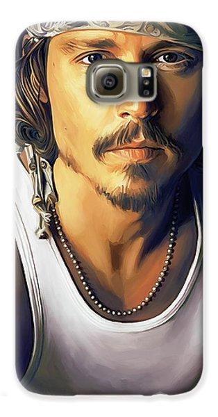 Johnny Depp Artwork Galaxy S6 Case by Sheraz A