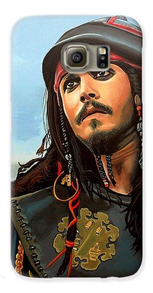 Johnny Depp As Jack Sparrow Galaxy S6 Case by Paul Meijering