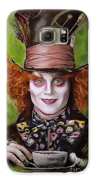 Johnny Depp As Mad Hatter Galaxy S6 Case by Melanie D
