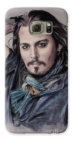 Johnny Depp Galaxy S6 Case by Melanie D