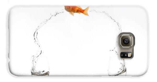 Goldfish Galaxy S6 Case - Jump! by Jose Beut