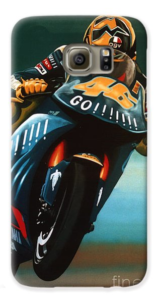 Doctor Galaxy S6 Case - Jumping Valentino Rossi  by Paul Meijering