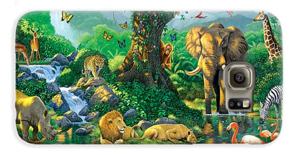 Jungle Harmony Galaxy S6 Case by Chris Heitt