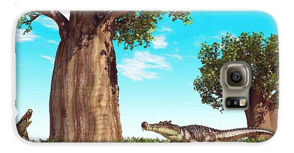 Kaprosuchus Prehistoric Crocodiles Galaxy S6 Case by Walter Myers
