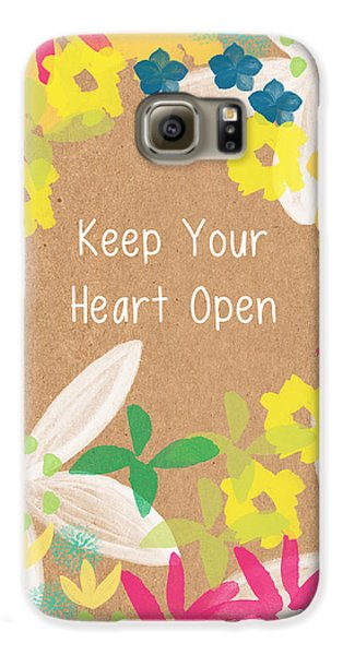Keep Your Heart Open Galaxy S6 Case