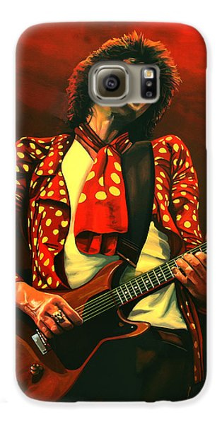 Rolling Stone Magazine Galaxy S6 Case - Keith Richards Painting by Paul Meijering