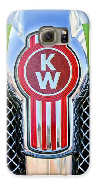 Truck Galaxy S6 Case - Kenworth Truck Emblem -1196c by Jill Reger